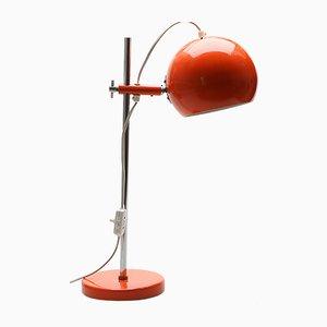 Rote Tischlampe, 1970er