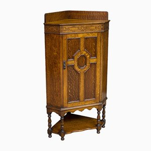 Oak Corner Cupboard, 1920s