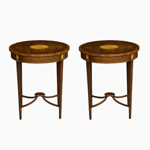 Walnut Occasional Tables, 1980s, Set of 2