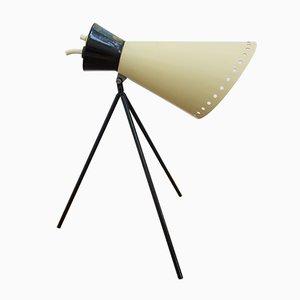 Lampe de Bureau Modèle 1618 Noire et Blanche par Josef Hurka pour Napako, 1960s
