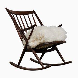 Sedia a dondolo di Frank Reenskaug per Bramin, anni '60