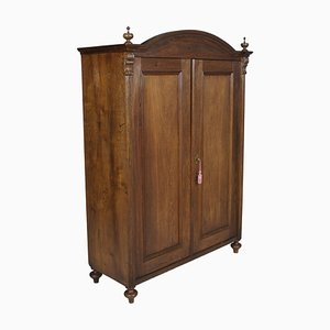 Large Antique Austrian Neoclassical Oak Wardrobe, 1850s