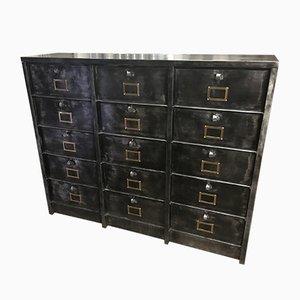 Mueble con 15 cajones de Strafor, años 40