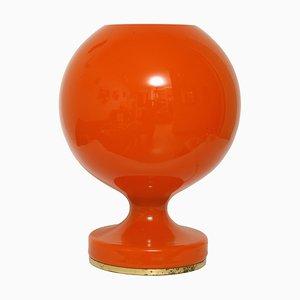 Czechosłovak M 2/3 Orange Tischlampe aus Glas von Stepan Tabery für OPP Jihlava, 1970er