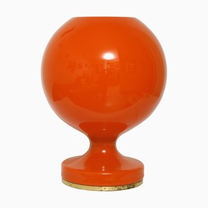 M 2/3 Orange Glass Table Lamp by Stepan Tabery for OPP Jihlava, 1970s