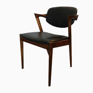 Chaises Modèle 42 Vintage en Palissandre par Kai Kristiansen, Set de 4