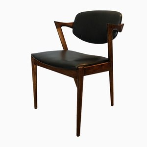 Vintage Model 42 Rosewood Chairs by Kai Kristiansen, Set of 4