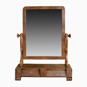 Specchio da toeletta vittoriano regolabile in mogano, fine XIX secolo