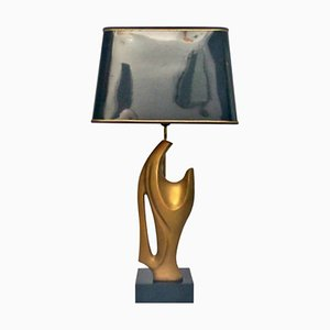 Lámpara de mesa con escultura, años 70