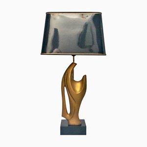 Tischlampe mit Skulptur, 1970er