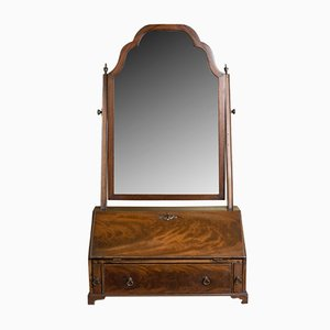 Antique English Georgian Revival Mahogany Vanity Mirror, 1910s