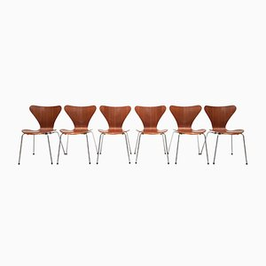 Model 3107 Chairs by Arne Jacobsen, 1965, Set of 6