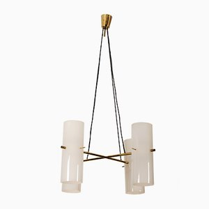 Large Four Cylinder Chandelier by J.T. Kalmar, 1950s