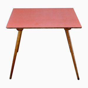 Small Red Formica Table, 1950s