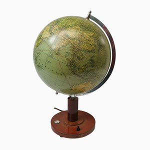 Illuminating Modell 200 Earth Globe from Columbus-Verlag GmbH, 1930s