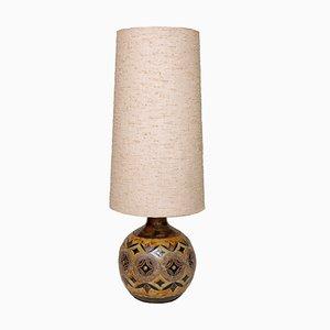 Lámpara de pie alemana Mid-Century grande de cerámica, años 60