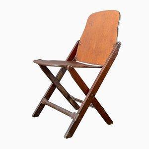 Chaise de Campagne Pliante Vintage de l'Armée Américaine
