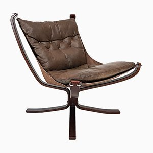Vintage X-Framed Falcon Chair by Sigurd Ressell for Vatne Møble, 1970s