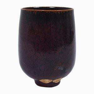 Vaso in ceramica di Stig Lindberg per Gustavberg, anni '70