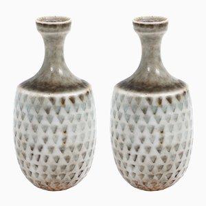 Kleine skandinavische Vasen von Stig Lindberg für Gustavsberg, 1960er, 2er Set