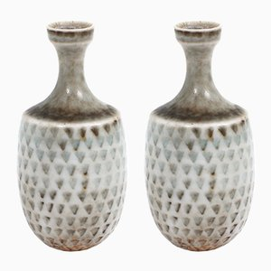 Small Scandinavian Vases by Stig Lindberg for Gustavsberg, 1960s, Set of 2