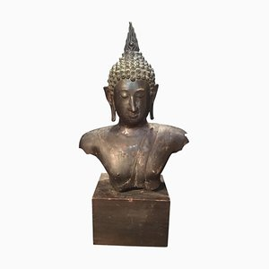 Antique Bronze Bust of Buddha