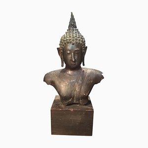 Buste de Bouddha Antique en Bronze