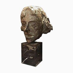 Busto francés antiguo de bronce