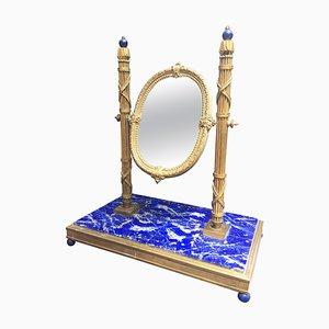 Specchio da toeletta antico in bronzo, Francia