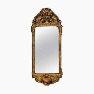 Swedish Rococo Giltwood & Gesso Mirror, 1750s