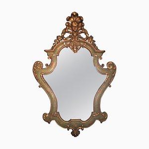 Antique Large Venetian Wood Wall Mirror