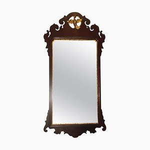 Specchio Chippendale antico in mogano