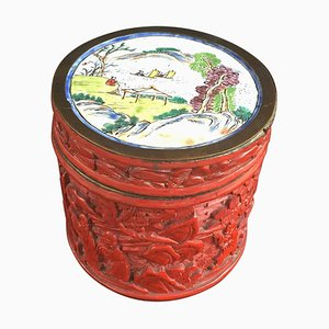 Antique Chung Hsing Chinese Cinnabar Lacquer Box