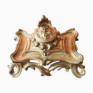 Antique French Bronze Louis XV Desk Set