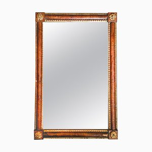 Venezianischer Spiegel mit handgeschnitztem & teilvergoldetem Rahmen, 19. Jh.,