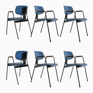 Chaises Vintage par Willy van der Meeren, Set de 6
