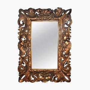 Antiker handgeschnitzter Florentiner Spiegelrahmen
