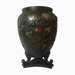 Japanische Vintage Vase aus Bronze