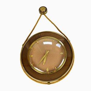 Reloj de pared alemán de UPG Halle, años 50