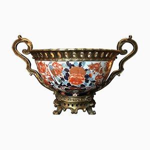 Japanese Giant Imari Export Porcelain Bowl, 1950s