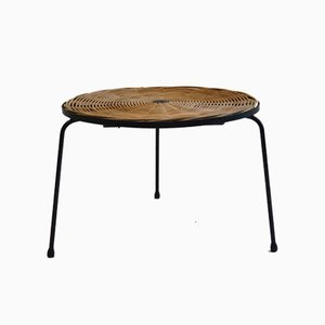 Small Rattan Wicker Table by Desmond Sawyer, 1960s