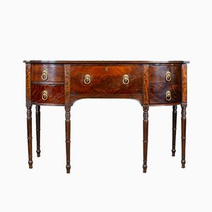 Antique Georgian Mahogany Bow-Fronted Sideboard, 1790s