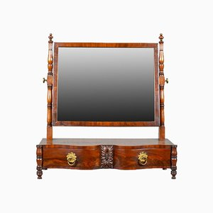 Antique Mahogany Dressing Table with Mirror, 1890s