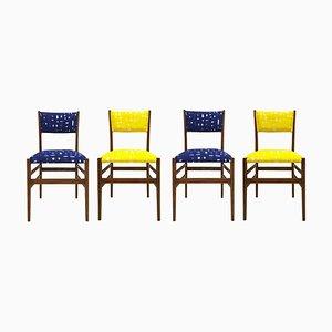 Italienische Mid-Century Leggera Stühle aus Eschenholz von Gio Ponti für Cassina, 1951, 4er Set