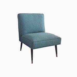 Amerikanischer Mid-Century Sessel mit konischen Beinen aus Messing