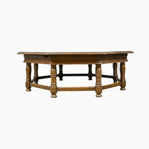 Large Vintage English Oak Coffee Table