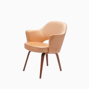 Poltrona vintage in pelle di Eero Saarinen per De Coene