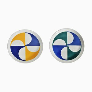 Ceramic Plates by Gio Ponti for Franco Pozzi, 1960s, Set of 2
