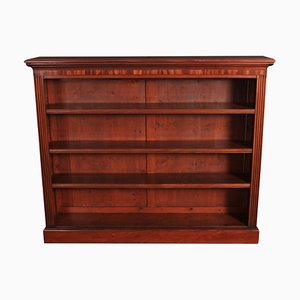 Large 19th Century Mahogany Open Bookcase