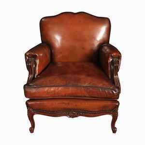 Club chair in pelle, Francia, anni '20, set di 2